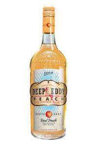 A bottle of Deep Eddy Peach Vodka