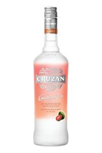 A bottle of Cruzan Guava Rum used to make the Beach Please Martini.