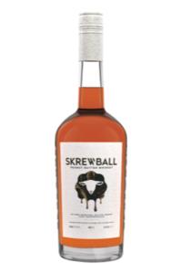 A bottle of Skrewball Peanut Butter Whiskey